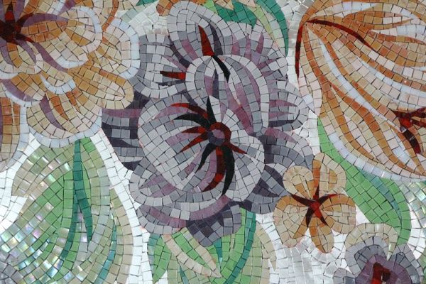 Custom made stone tiles for Custom mosaic tile mural