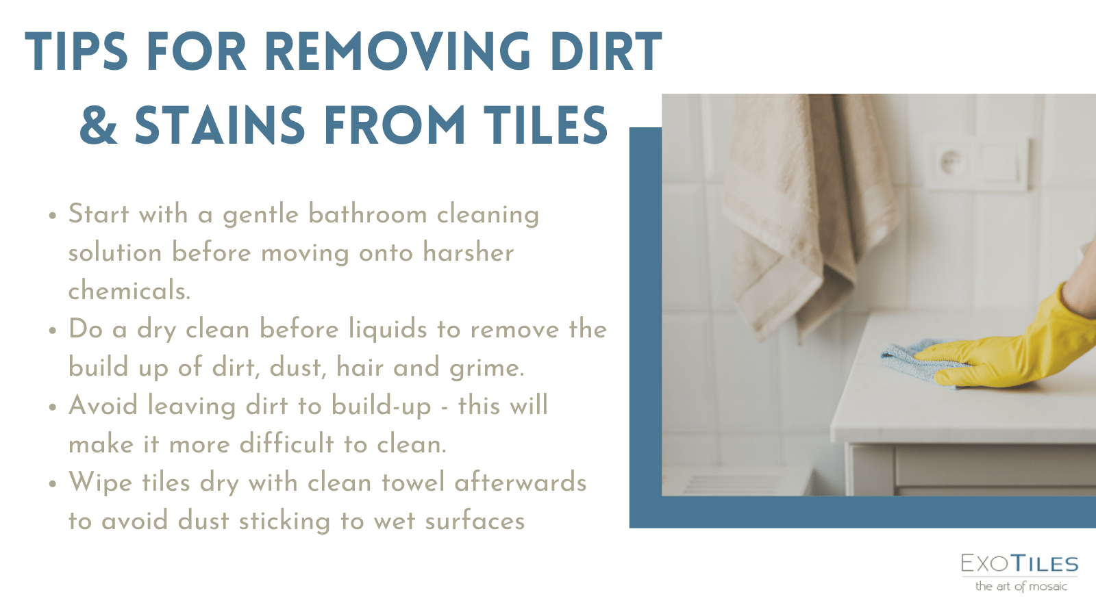 tips for cleaning dirt from bathroom tiles inforgraphic